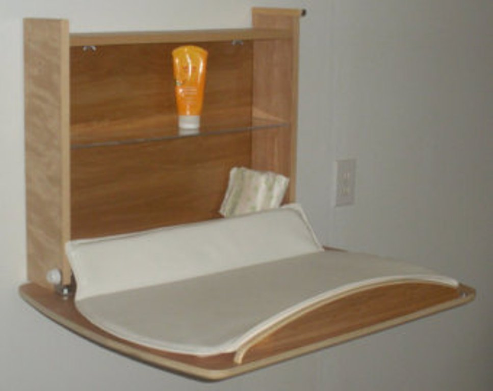 Image of: Fold Down Changing Table Repurposed