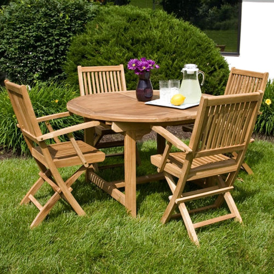 Image of: Folding Outdoor Dining Table Sets