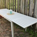 Folding Outdoor Dining Table White
