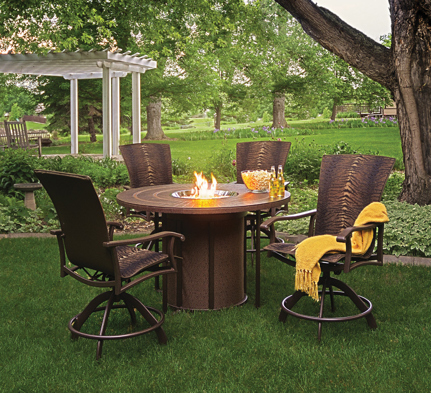 Image of: Garden Patio Fire Table
