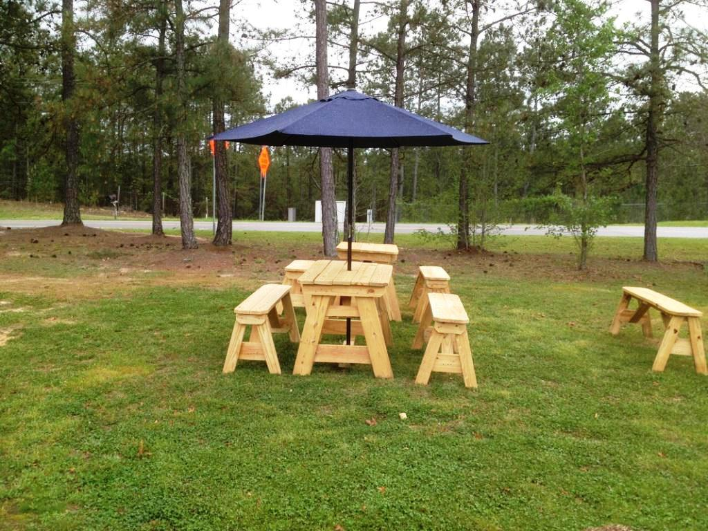Picture of: Garden Patio Table with Umbrella Hole