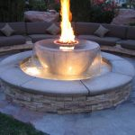 Gas Firepit Table Water Fountain