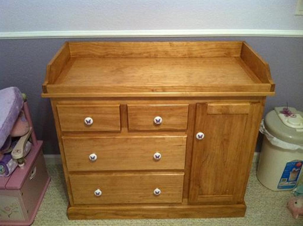 Image of: Gray Dresser changing Table for Nursery