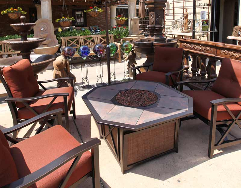 Image of: Hexagon Patio Table Design