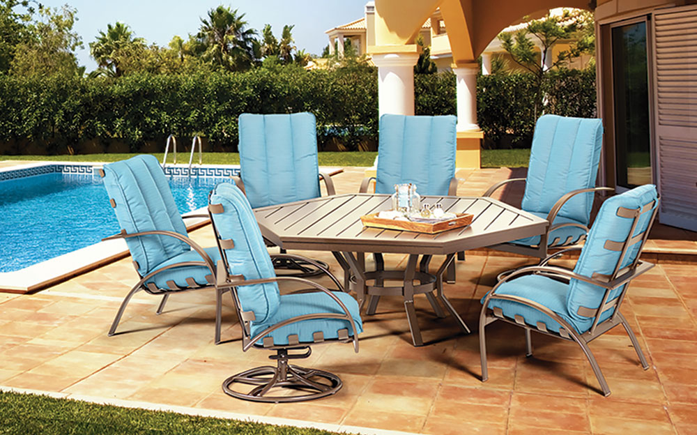 Image of: Hexagon Patio Table Furniture