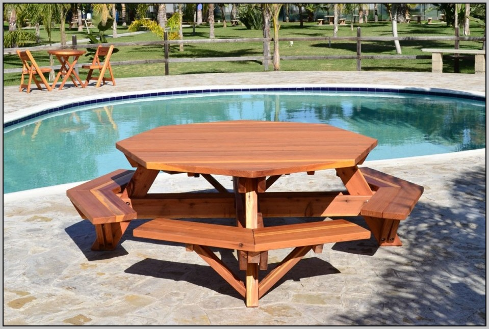 Image of: Hexagon Patio Table Outdoor Furniture