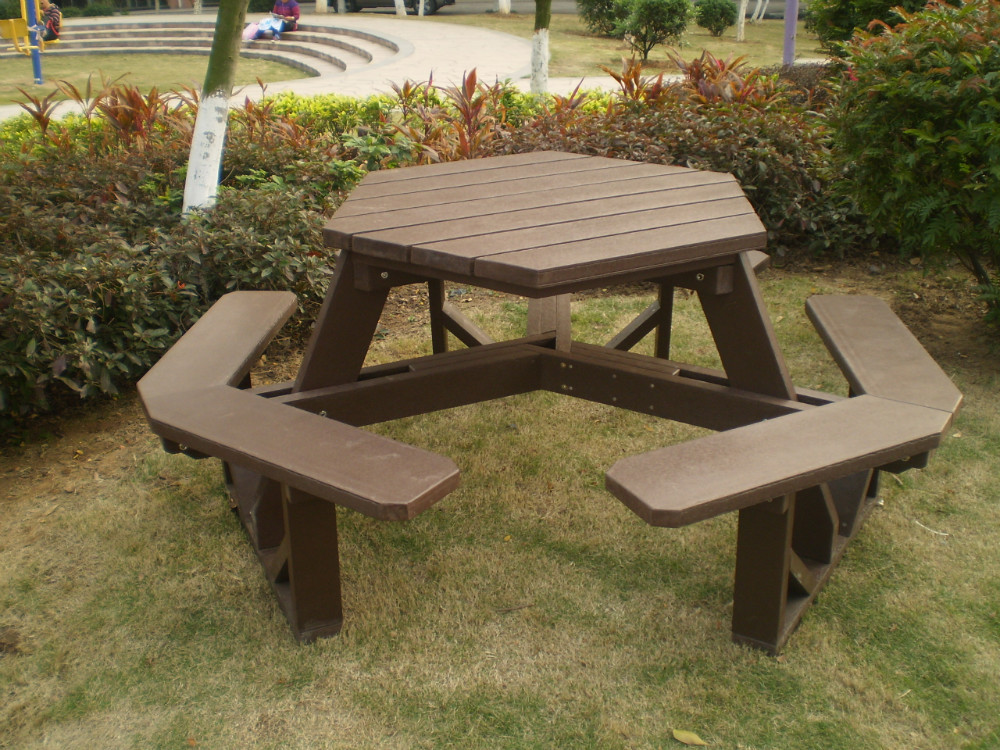 Image of: Hexagon Patio Table Picture