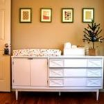Mirrored Dresser and Changing Table