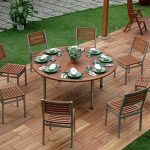 Modern 60 Inch Round Patio Table