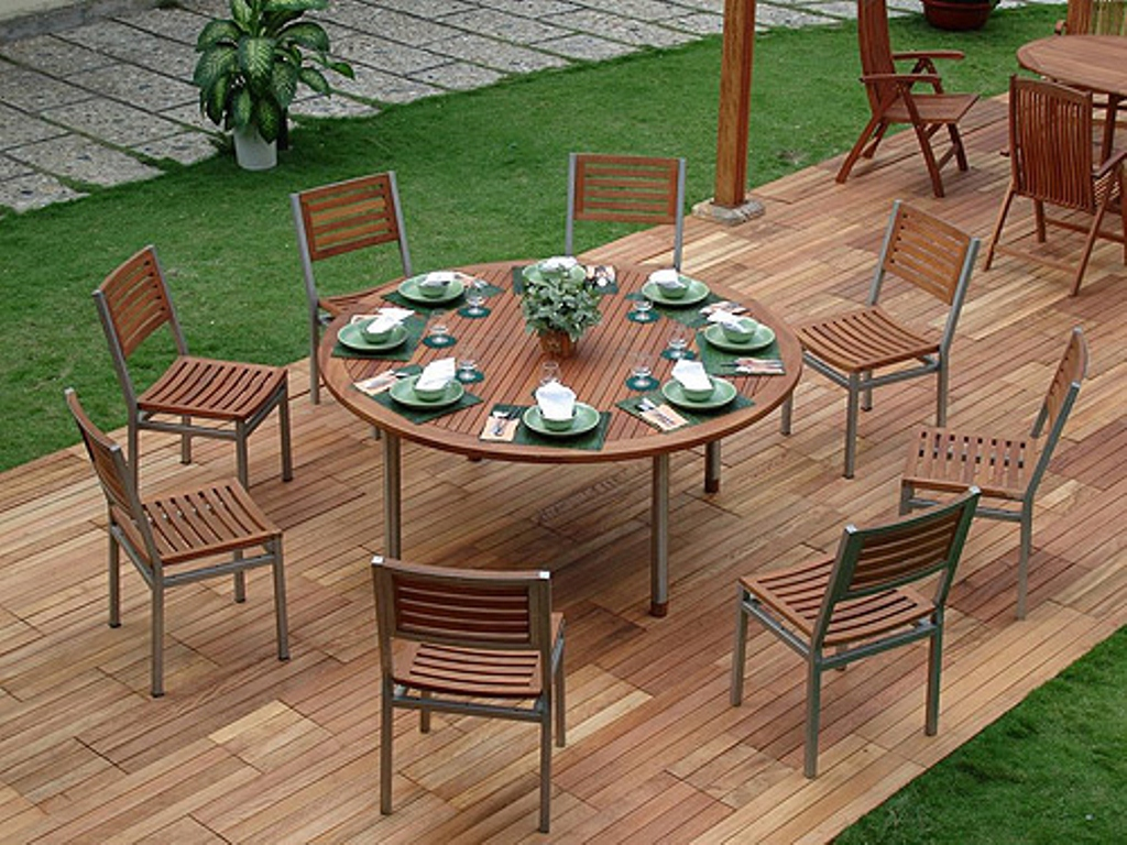 Picture of: Modern 60 Inch Round Patio Table