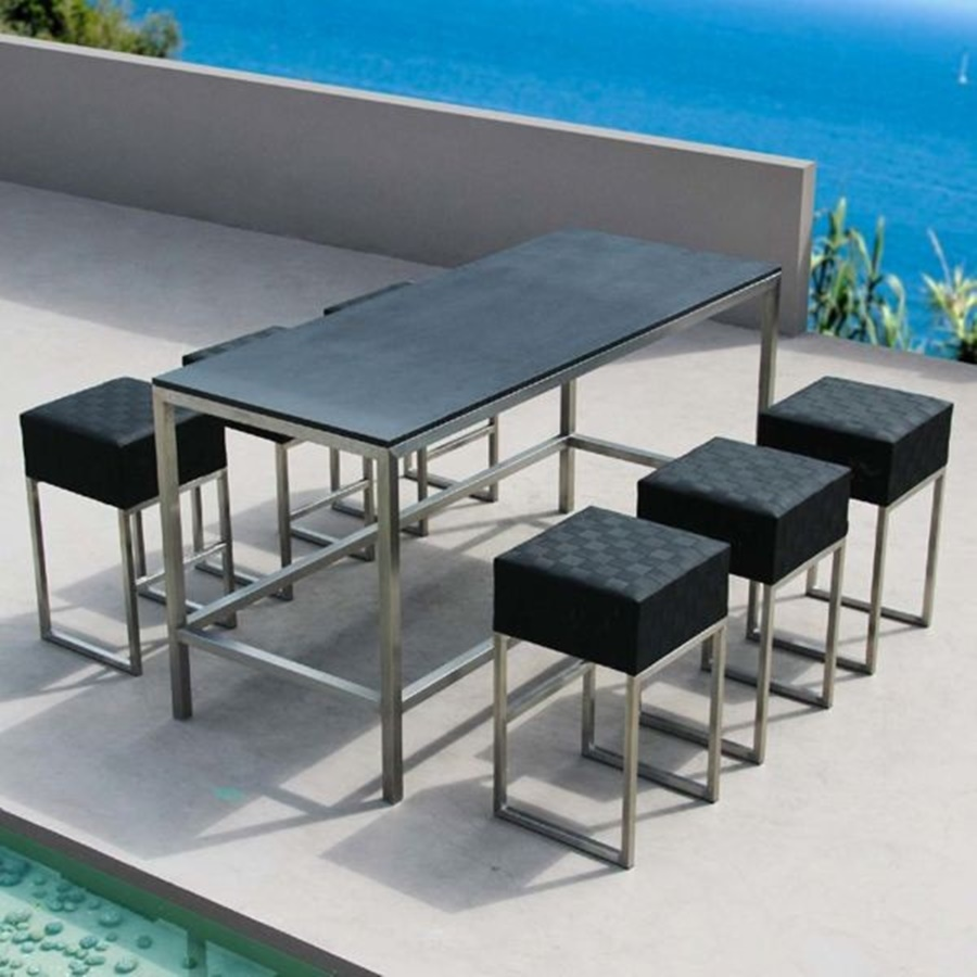 Image of: Modern Bar Height Patio Table