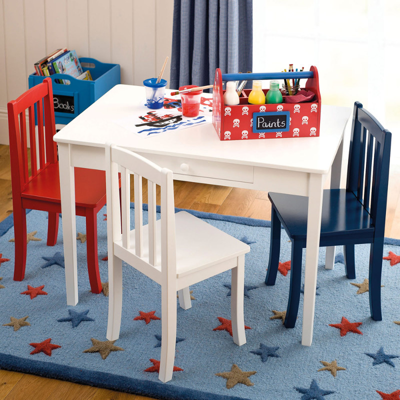 Image of: Modern Childrens Wooden Table and Chairs