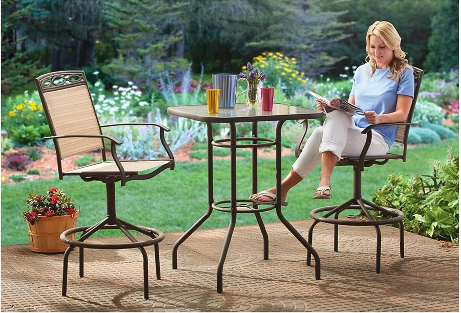 Image of: Modern Patio Bar Height Table
