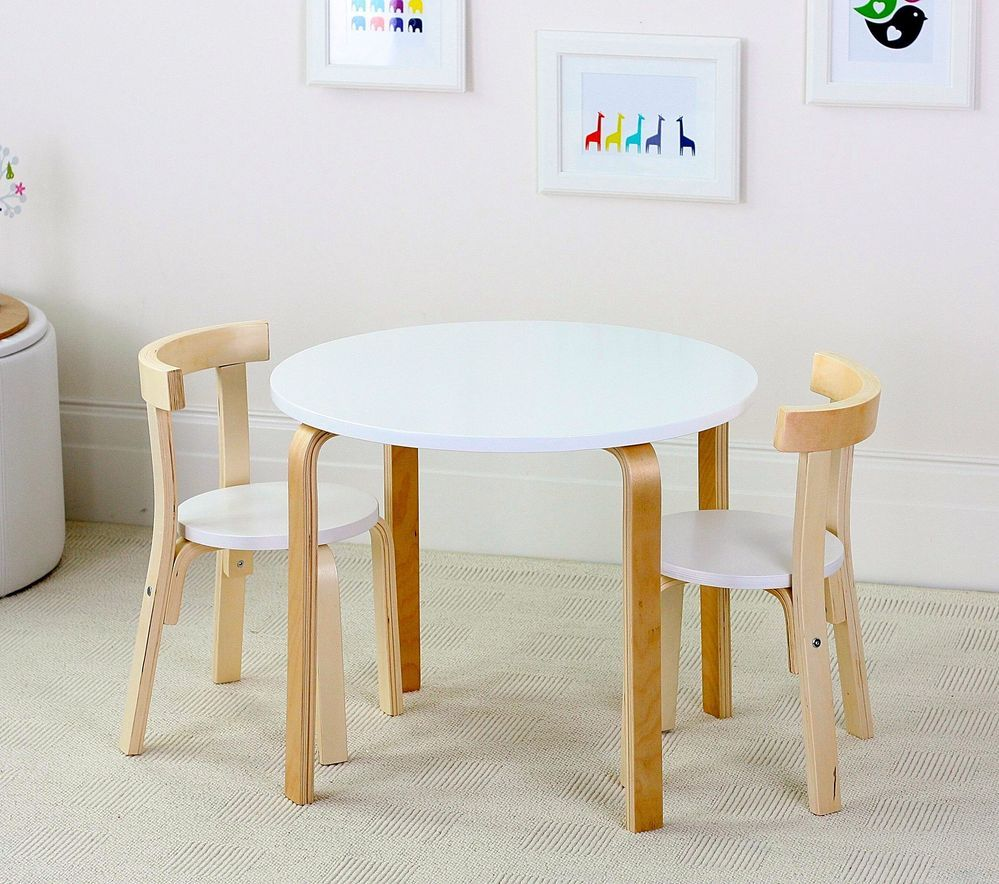 Image of: New Childrens Wooden Table and Chairs Style