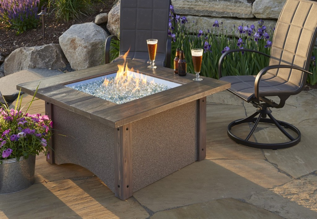Image of: New Outdoor Firepit Table