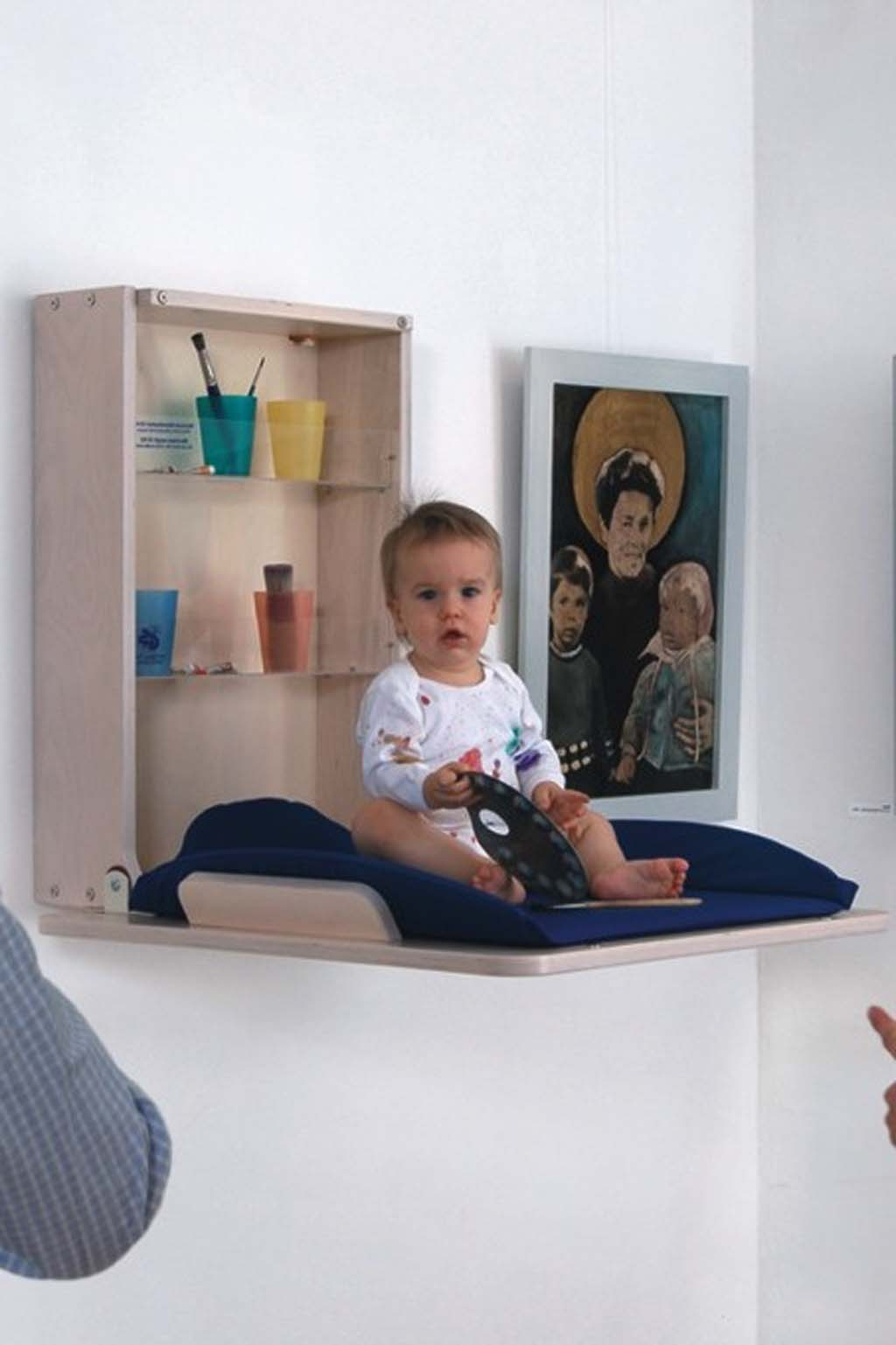 Image of: Nice Wall Mounted Baby Changing Table
