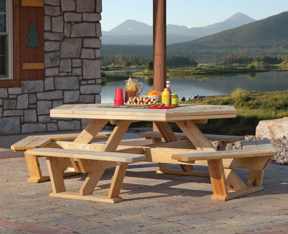 Picture of: Octagon Patio Table Beautiful