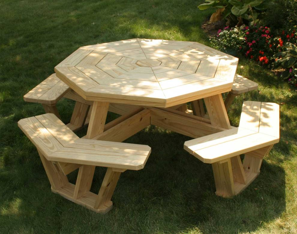 Image of: Octagon Patio Table Design