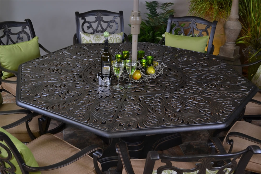 Image of: Octagon Patio Table Furniture