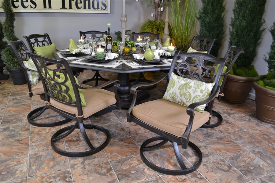 Image of: Octagon Patio Table Style