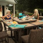 Outdoor Dining Table With Fire Pit Large