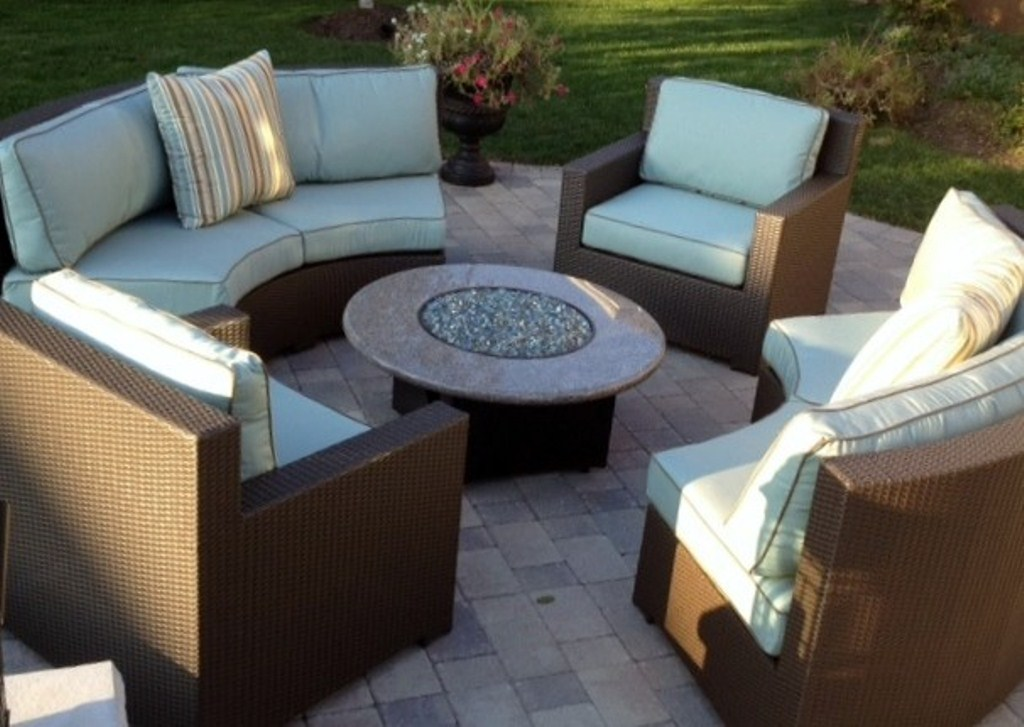 Picture of: Outdoor Patio Furniture with Fire Pit Table