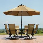 Outdoor Patio Table With Umbrella Hole