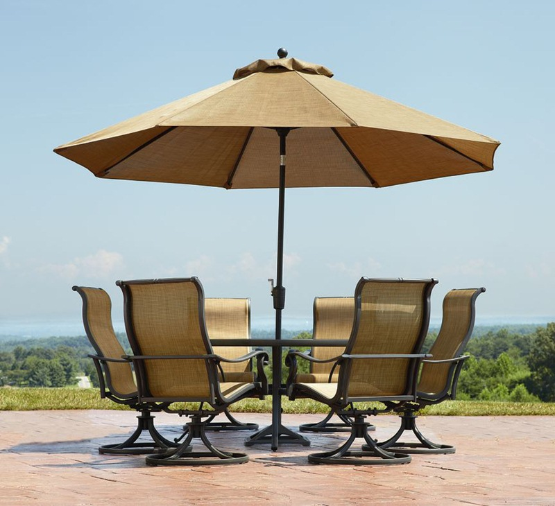 Picture of: Outdoor Patio Table with Umbrella Hole