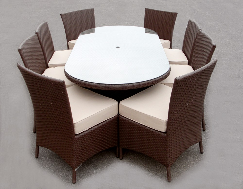 Image of: Oval Patio Table Furniture