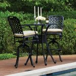 Patio Bar Height Table Furniture