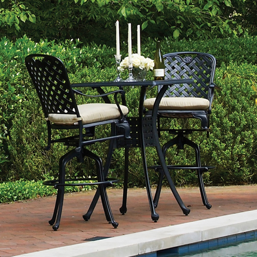 Image of: Patio Bar Height Table Furniture