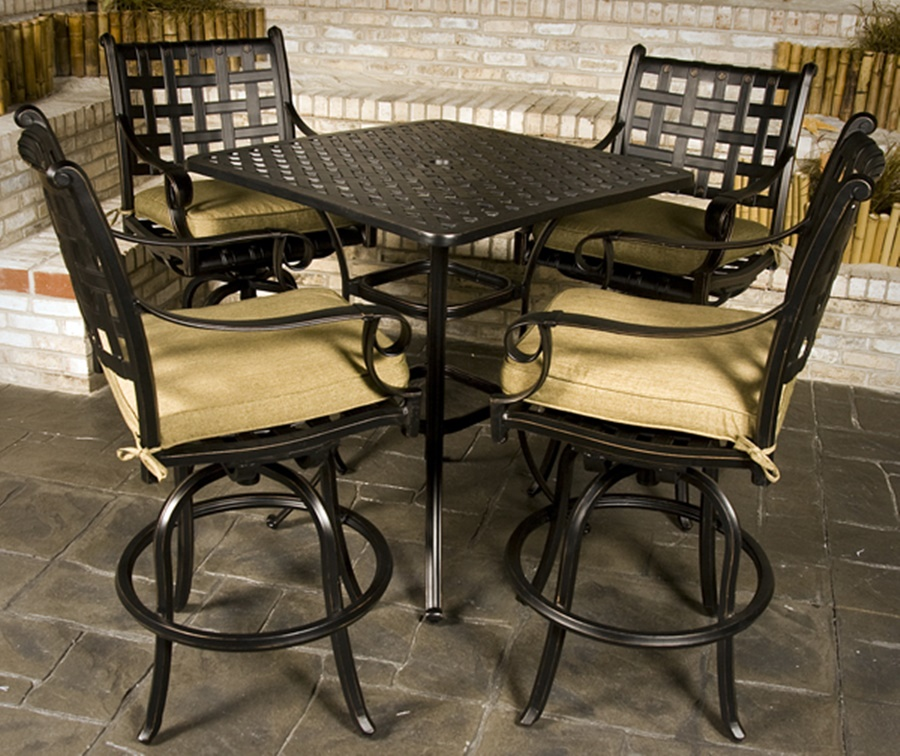 Image of: Patio Bar Height Table Style
