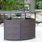 Patio Bar Table Rattan