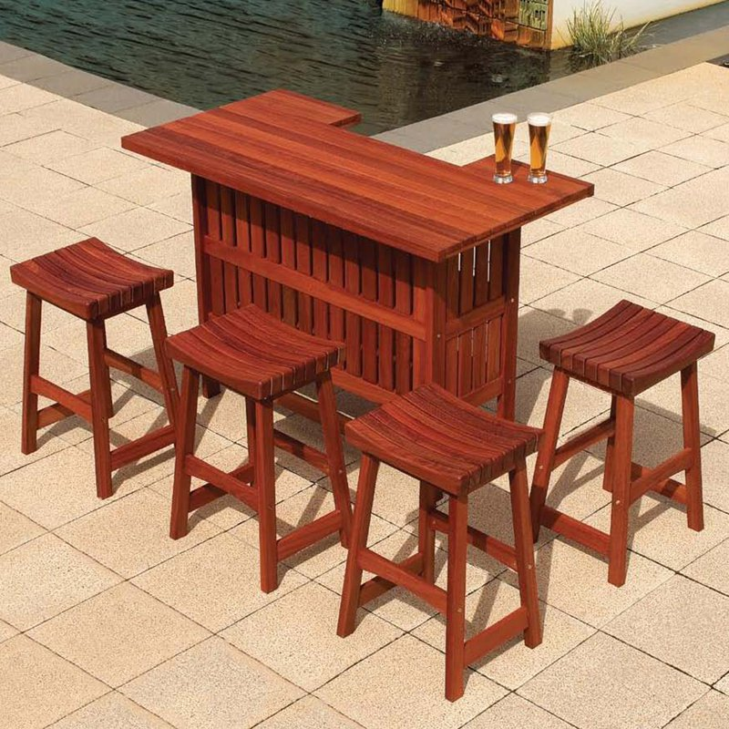 Picture of: Patio Bar Table Set