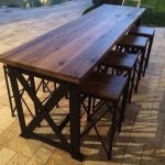 Patio Bar Table Wood