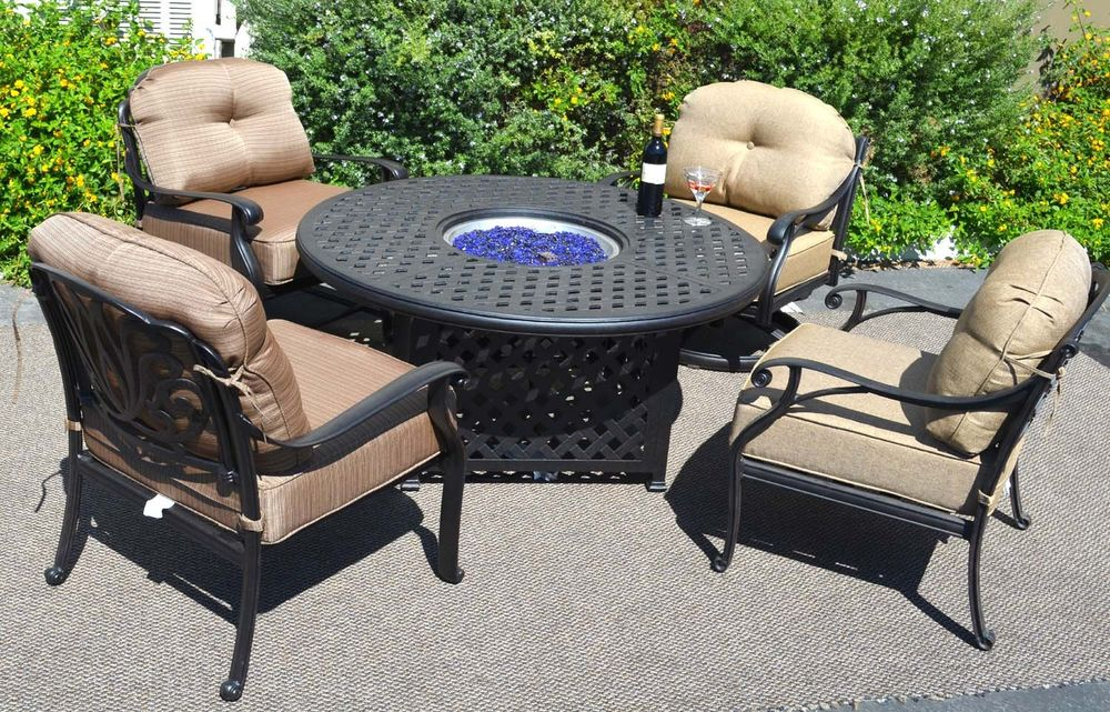 Image of: Patio Fire Table Backyard