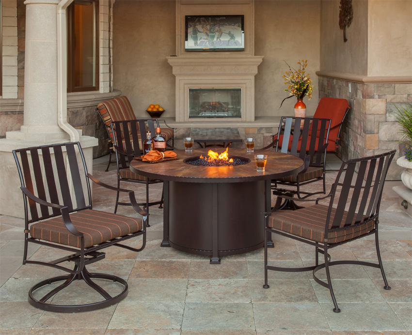 Picture of: Patio Fire Table Classic Style