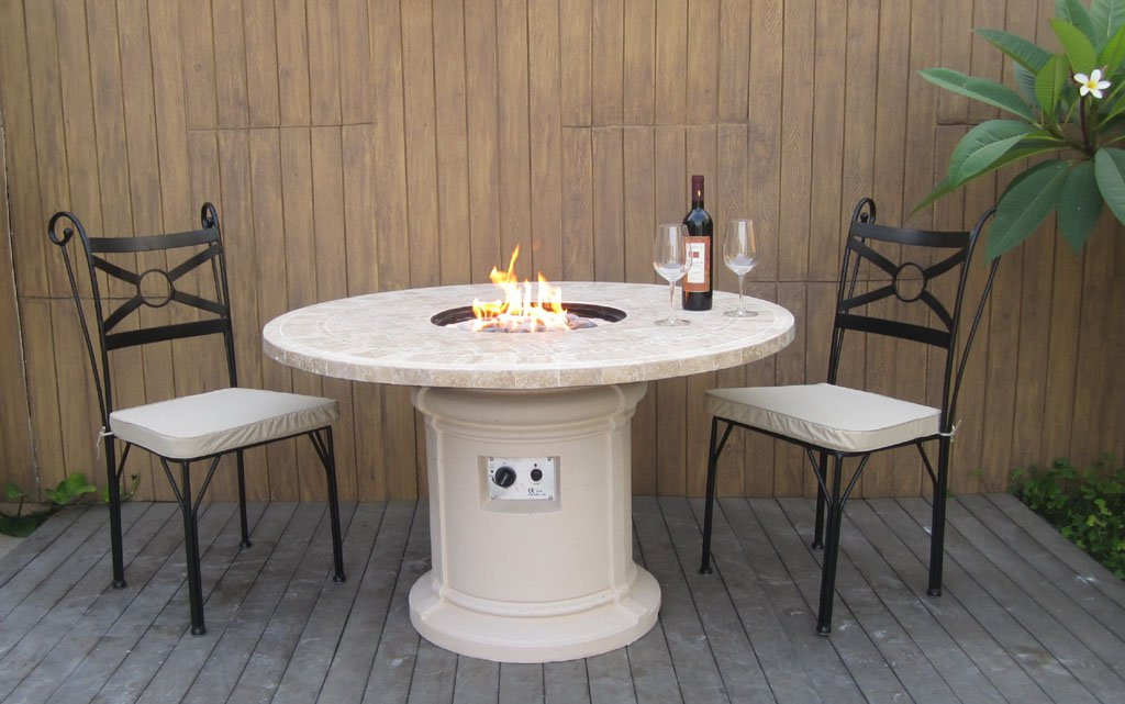 Image of: Patio Fire Table Mini Bar