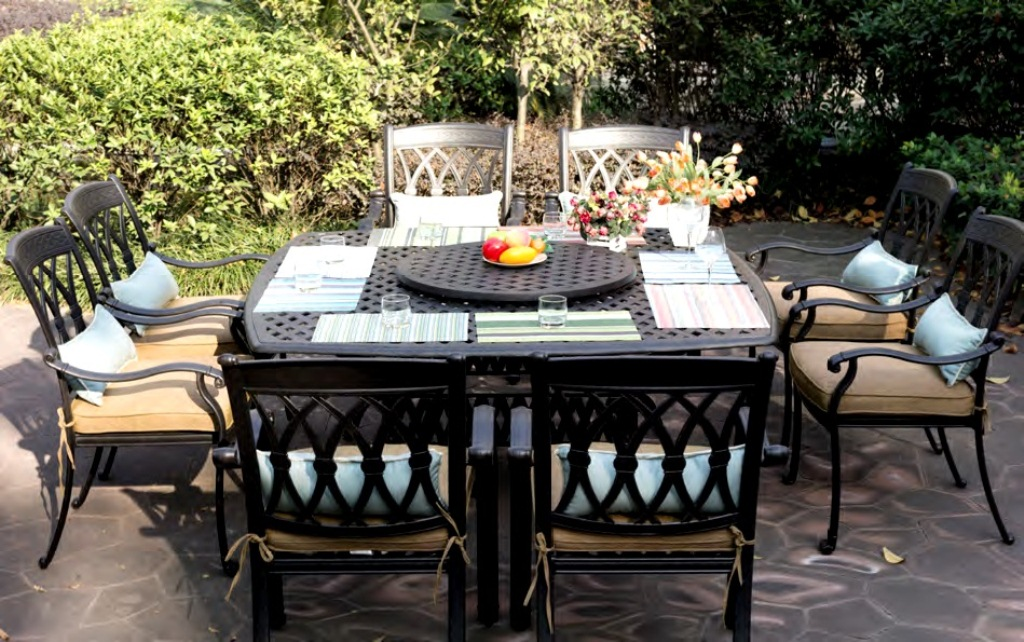 Picture of: Patio Furniture with Fire Pit Table Plan