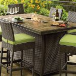 Patio Outdoor Dining Table With Fire Pit