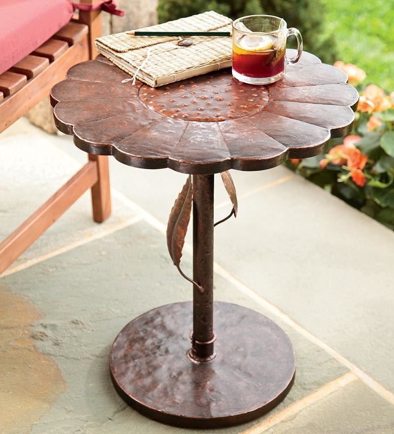 Image of: Patio Side Table Shaped