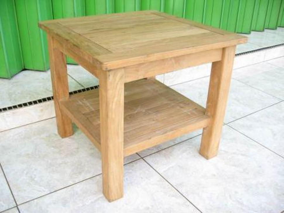 Image of: Patio Side Table Wood