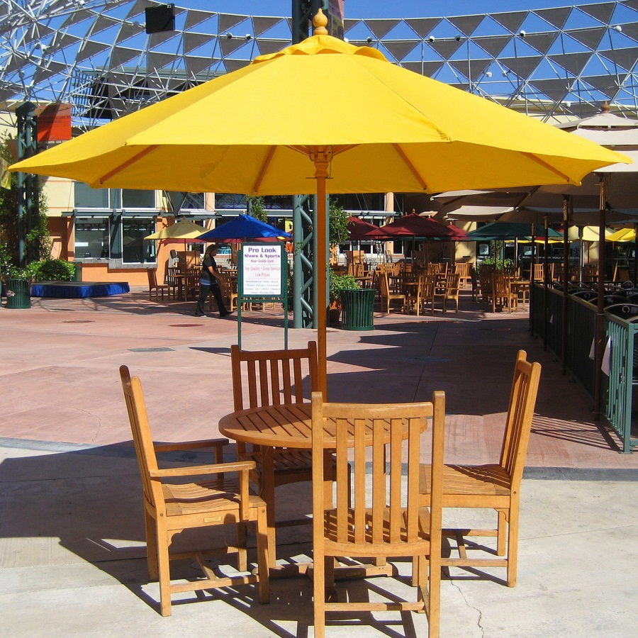 Picture of: Patio Table with Umbrella Hole Inserts