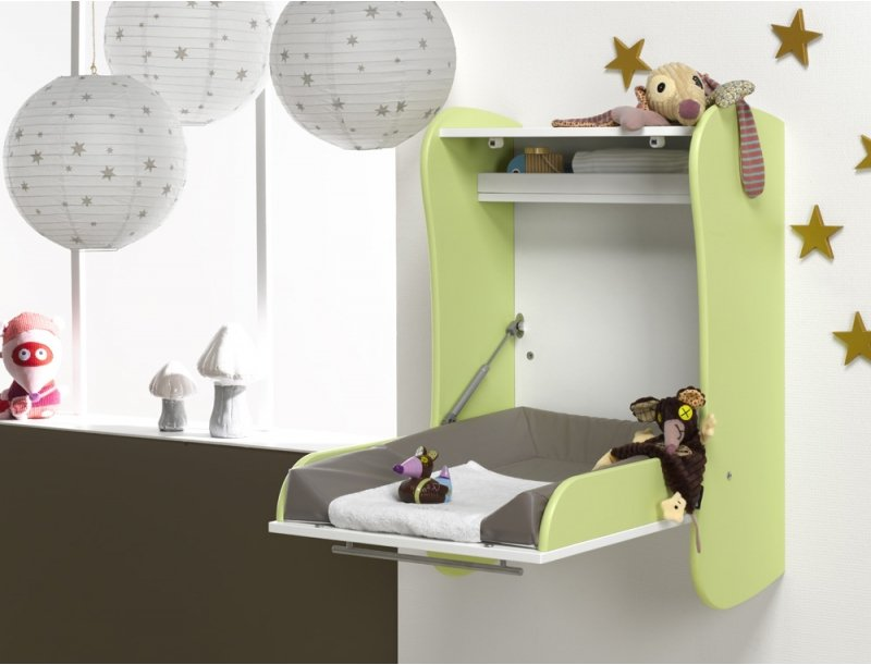 Image of: Pretty Wall Mounted Baby Changing Table