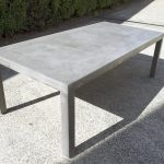Rectangle Patio Dining Table Concrete