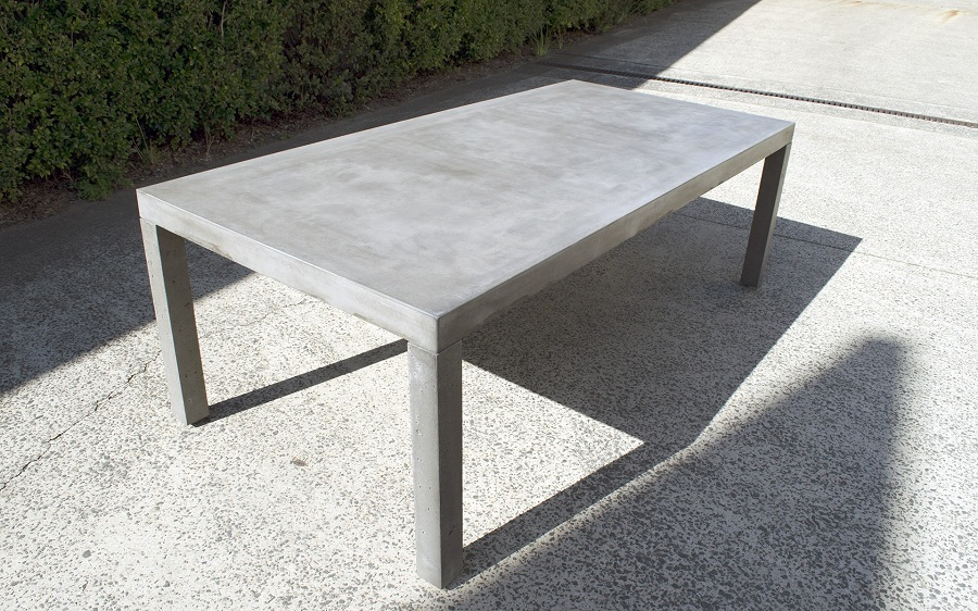 Picture of: Rectangle Patio Dining Table Concrete
