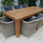 Rectangle Patio Dining Table Teak
