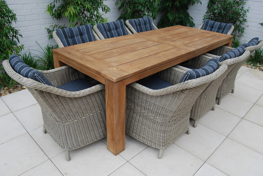 Picture of: Rectangle Patio Dining Table Teak