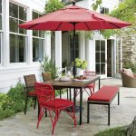 Rectangle Patio Dining Table With Umbrella