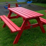 Red Plastic Picnic Table